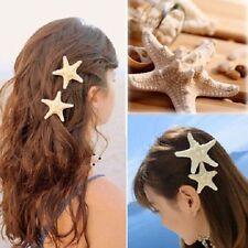Elegant-Real Starfish Hair Clips Beach Bridal Sea Shell Mermaid Festival Wedding