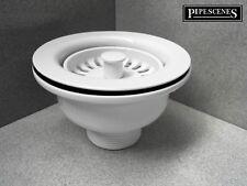 White McALPINE BWST-WH Kitchen Sink Basket Strainer Waste Drain Coloured
