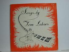 Tom Lehrer - Songs ByTom Lehrer, Lehrer TL 101, 1959 Mono LP
