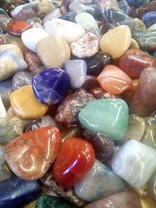 50 tumbled stones Medium (12-20mm) polished crystal tumblestones quartz gemstone