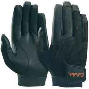 Cabela's Upland Sport Mens Mesh-Back Black Sheep Leather Shooting Hunting Gloves