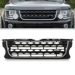 BLACK SILVER FRONT BUMPER GRILL GRILLE FOR LAND ROVER DISCOVERY 4 FACELIFT 14-17