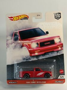 2020 Hot Wheels Car Culture Power Trip - GMC Syclone Red Real Riders