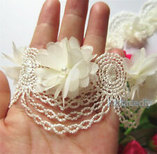 Wholesale 13yards/lot 5cm Apricot Embroidered Lace Edge Trim Ribbon Sewing Craft