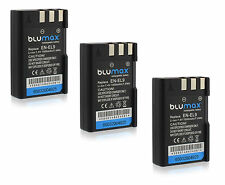 3x EN-EL9 EN-EL9a Battery Pack for Nikon D3000 D40 D40x D5000 D60 DSLR Camera