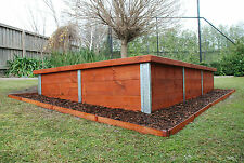 Retaining Wall Galv Steel Sleeper Posts 400x50mm H or Corner FREE DELIVERY MELB.