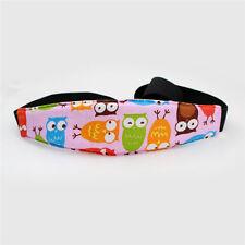 AU Stock Safety Car Seat Sleep Nap Aid Baby Kids Head Fasten Support Holder Belt Pink Owls 9a-cq0265
