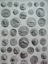 ANTIQUE PRINT 1926 NUMISMATICS GREEK AND ROMAN COINS VINTAGE PHOTO PRINT HISTORY