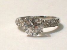 Cz Wedding Promise .925 Sterling Silver Ring 8.5mm Wide S8.25