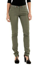 DESIGUIAL MILITARY GREEN COTTON TAPERED CASUAL CHINO PANTS-DESIGUAL SIZE 32
