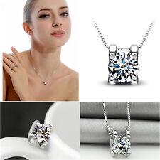 Mujer collar Gargantilla Colgante Cristal 925 plata Cadena Necklace Joyería