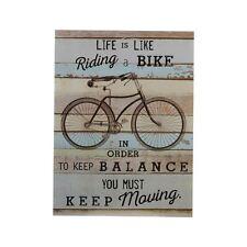 Premier Housewares Bike Wall Plaque, MDF