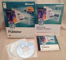 Microsoft Publisher Version 2002 With Office XP Software Discs And Manual! S52