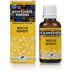 New Life Bach Flower Rescue Remedy 30ml 30 ml Homeopethic Dilution