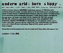 Born Slippy Cd1 von Underworld | CD | Zustand gut