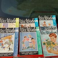 Lot of 7 Vintage Wee Wisdom Magazine for boys and girls all from 1940's