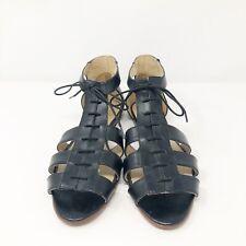 Wolverine 1000 Mile Samantha Pleet Sandals 9.5  Black Gladiator Sandals