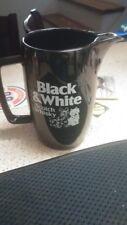 BLACK AND WHITE SCOTCH WHISKY CERAMIC DECANTER
