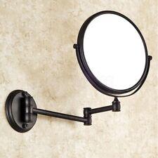 Bronzo lucidato olio montato a parete tondo specchio a doppio lati Bagno Specchio Cosmetico