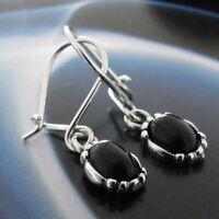 Onyx Silber 925 Ohrringe Damen Schmuck Sterlingsilber H0178