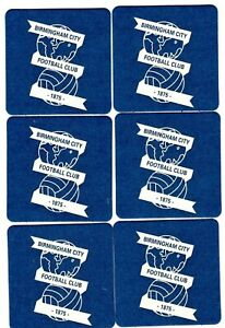BIRMINGHAM CITY F.C. Pack of Official Crested Beer Mats Coasters FREE POST UK