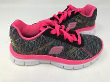 NEW! Skechers Youth Girl's It's Electric Shoes Black/Multi #81863L 173S z