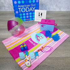 American Girl Today Doll SEASIDE ACCESSORIES Ice Water Bottles Ball Radio Towel+