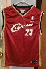 LeBron James Cavaliers #23 NBA Reebok Jersey Youth Size L (14-16) RED WHITE GOLD