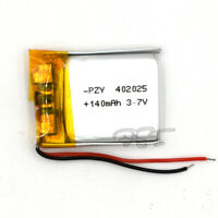 5Pcs 140mAh 402025 3.7V LiPolymer Lipo Cell Rechargeable Battery for MP4 Headset