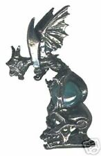 3 wholesale lead free pewter gargoyle figurines H8016