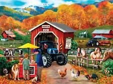 SUNSOUT JIGSAW PUZZLE ENTERPRISE LANE MARY THOMPSON 1000 PCS #25322 NEW HOLLAND