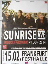 SUNRISE AVENUE  2014  ORIGINAL CONCERT-KONZERT-TOUR-POSTER  84 x 60 cm NEU