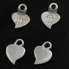 48 QTY - EARRING SILVER Plated HEART **AUTHENTIC AANRAKU** Bail Glass Jewelry