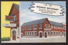 Postcard MILWAUKEE Wisconsin/WI  McKinley Cafe Bar Restaurant view 1930's