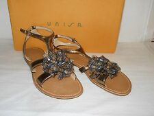 Unisa New Womens Jamila Bronze Multi Sandals 9 M Shoes NWB