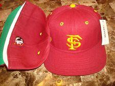 FLORIDA STATE SEMINOLES FSU FIELD cap hat 1990's VINTAGE FITTED 6 7/8  DELONG