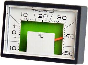 RICHTER Bimetall Thermometer justierbar 5 x 3 cm + Halter + selbstklebend