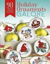 Cross Stitch Pattern Book 98 Holiday Ornaments Galore ~ Christmas Decor & More