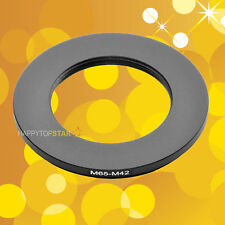 M65mm to M42mm M65 65mm M42 42mm -1mm Male to Female Step-Down Lens Ring Adapter