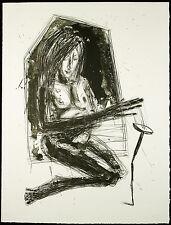 "DDR-arte. ""Donna..."" 1989. grande lithogr. Steffen Volmer (* 1955 D) firmato a mano"