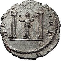 SALONINA 258AD Cologne SEGETIA TEMPLE Authentic Ancient Silver Roman Coin i58535