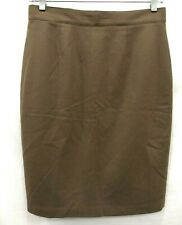 United Colors of Benetton Womens Brown Lined Rear Zip A Line Skirt 44 (32 in.)