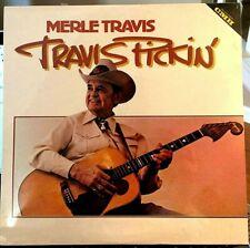 SEALED Merle Travis LP - Travis Pickin' - CMH-6255, 1981