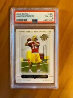 2005 Topps AARON RODGERS PSA 8 #431 Graded NM-MT ROOKIE NFL Green Bay Packers RC