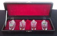 Vintage Imported Genuine Hand Polished Crystal Salt & Pepper Shaker 1960's