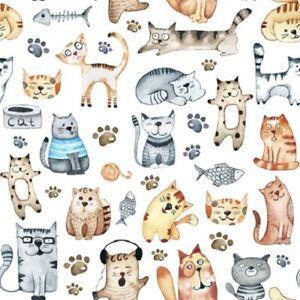 4 x Single Paper Napkins/3 Ply/33cm/Decoupage/Animals/Assorted Cats/Pet Cats