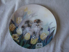 Collector Cat Plate Springtime Oasis Kittens & Tulips by Lily Chang 201661