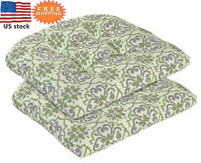 Bossima Outdoor Seat Cushion Patio Dining Wicker Chair Seat Pad 2 Pieces Damask