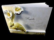 "Keepsake Guest Book, ""Elegant Lily"" Polyresin Cover, 1000 Name Entries, #SL1739"