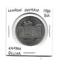 1980 BU 1 Dollar Canada London Ontario 125th Anniversary